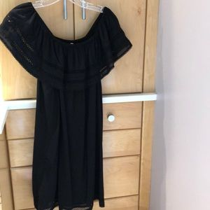 Aritzia Black off the shoulder dress